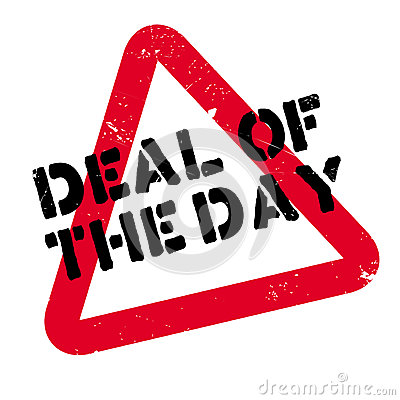 Deal Of The Day Rubber Stamp Stock Vector.