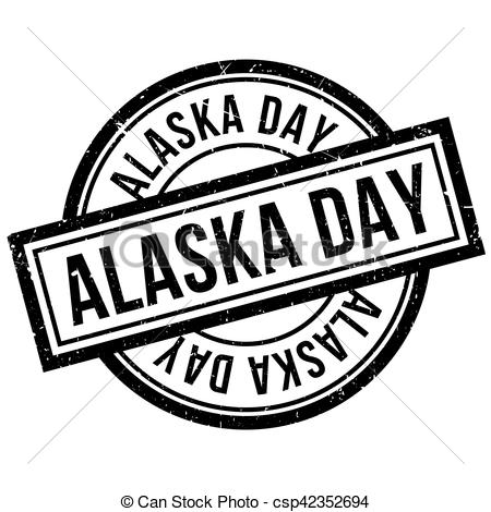 EPS Vectors of Alaska Day rubber stamp. Grunge design with dust.