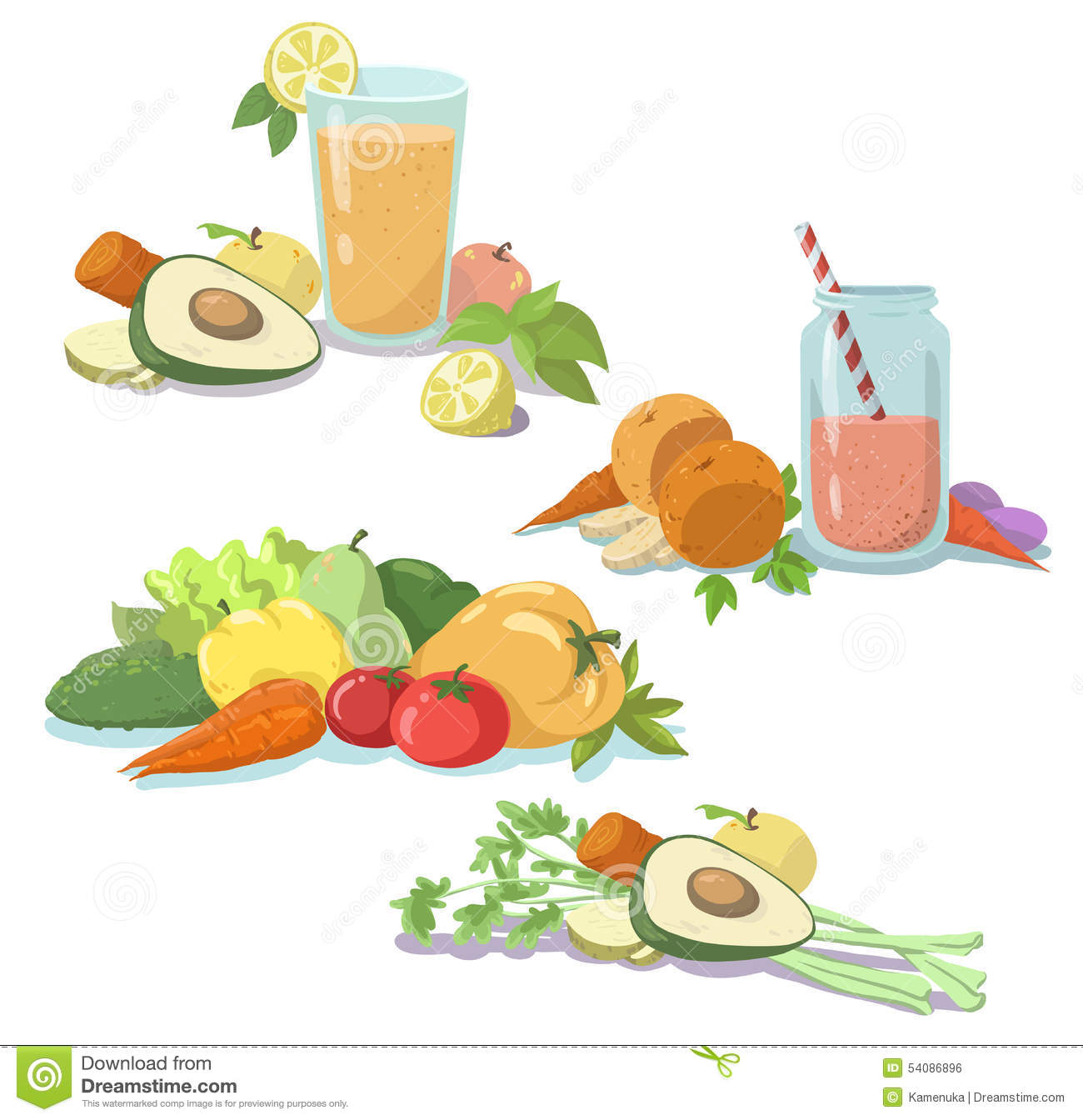 Smoothie. Fresh Juice. Healthy Diet. Fruit And Vegetables. Clean.