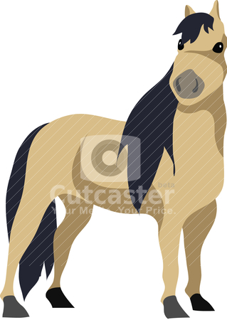 Horse Clipart stock vector.