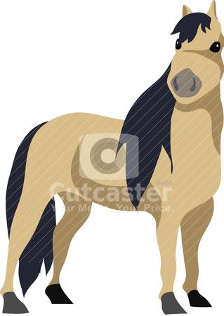 Horse Clipart stock vector.