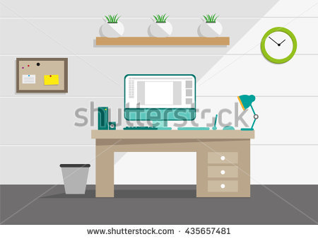 Clean Office Desk Stock Vectors, Images & Vector Art.