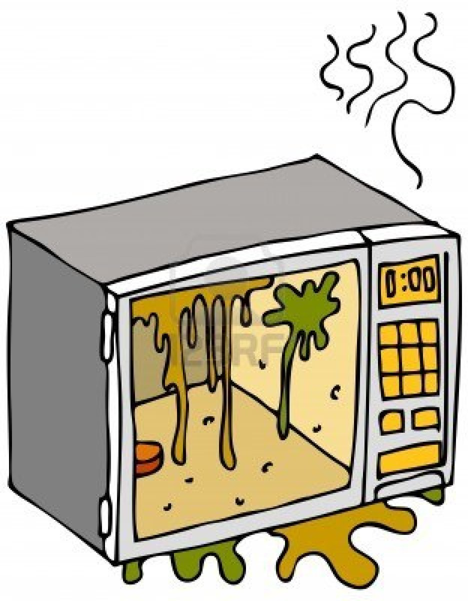 Clean Microwave Clipart.