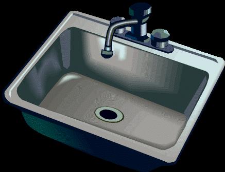 Clip Art Clean Bathroom Sink Clipart.