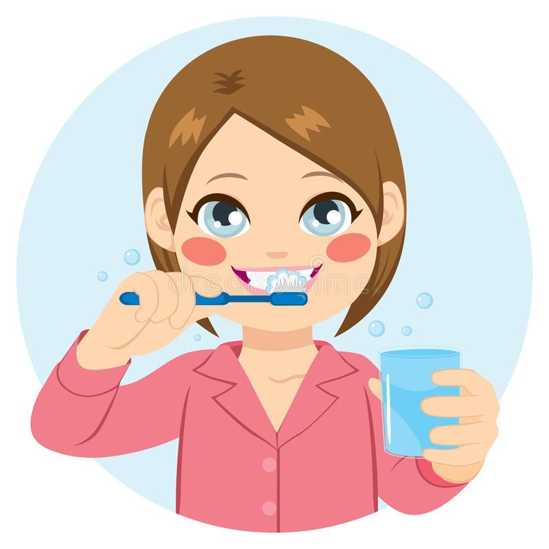 Brushing Teeth Stock Illustrations.