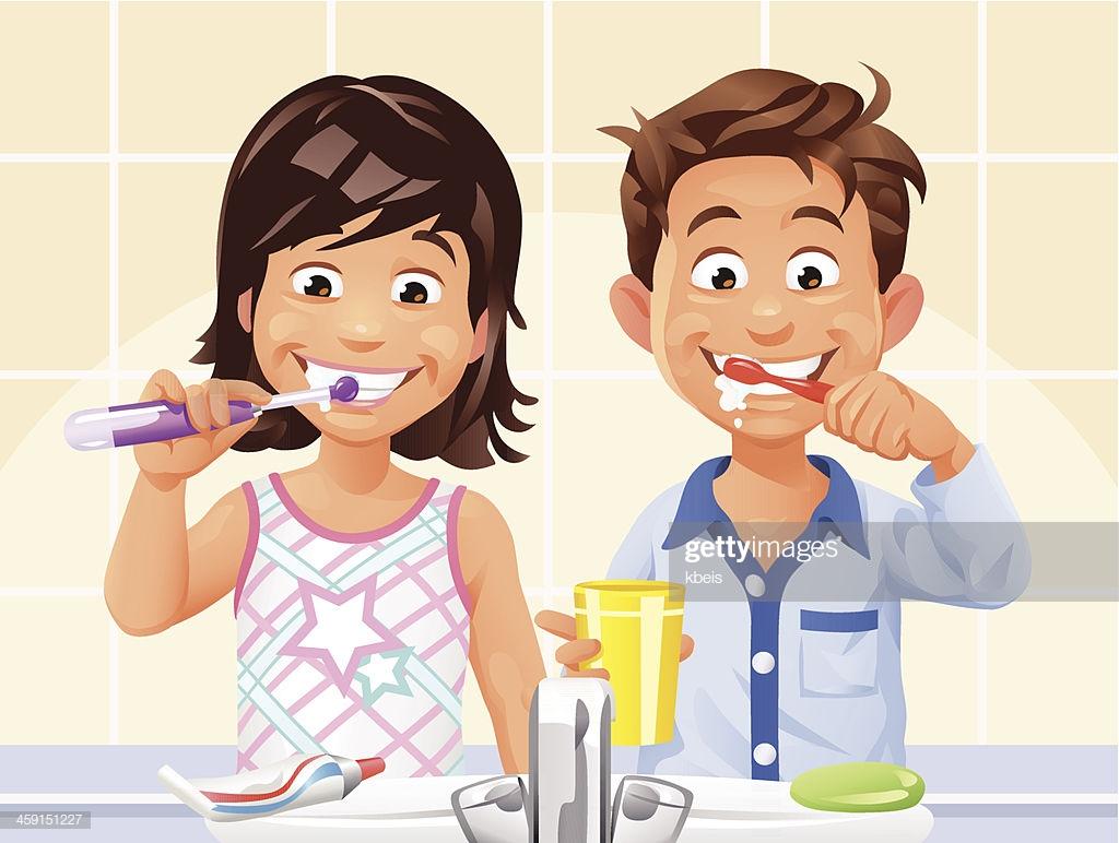 60 Top Brushing Teeth Stock Illustrations, Clip art, Cartoons.