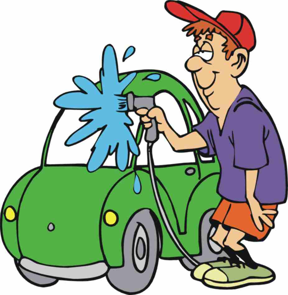 Clean The Car Clipart.