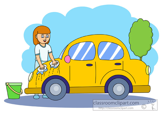 Wash The Car Clipart.