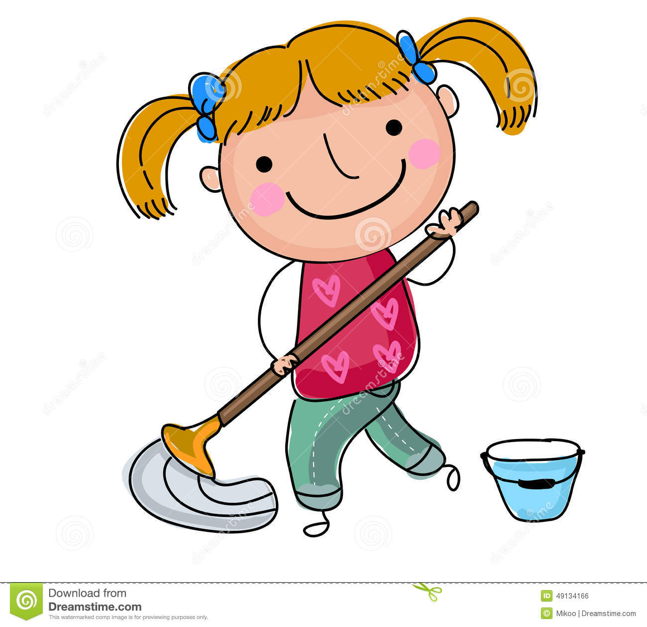 Cleaning Floor Clipart.