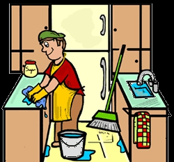 Kitchen Clean Up Clipart#2135376.