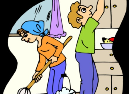 Kitchen Cleaning Clip Art.