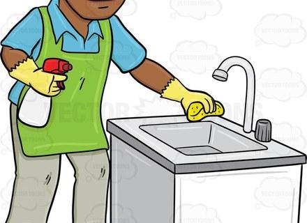 Clean Kitchen Sink Clip Art