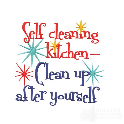 That's the number one rule of keeping a clean kitchen. Description.