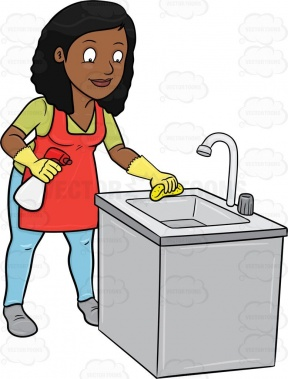 Break Room Cleaning Clipart.
