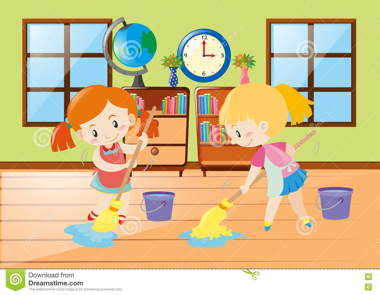 Kids Clean Room Clipart.