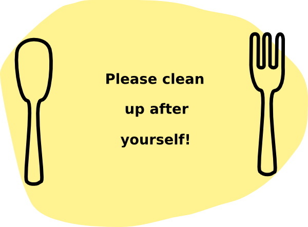 Please Clean Up After Yourself! Clip Art at Clker.com.