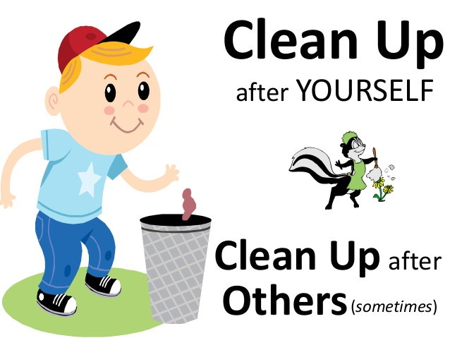 Clean Up After Yourself Clipart.