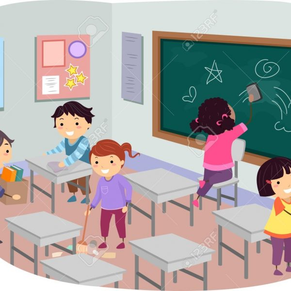 Clipart Teachers Cleaning Classroom with regard to Kids Cleaning Up.