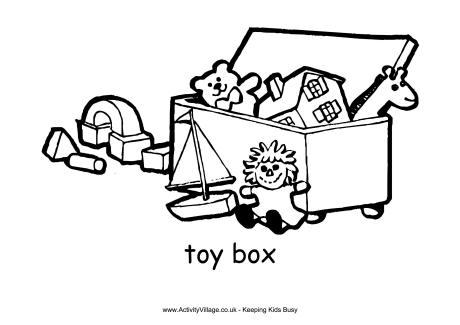 Clip Art Pick Up Toys Toy box.