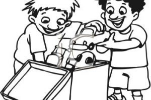Pick up toys clipart black and white 1 » Clipart Portal.