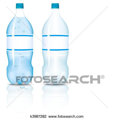 Plastic bottle of clean water. Clipart.