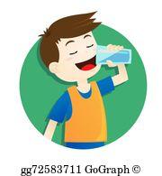 Drinking Water Clip Art.