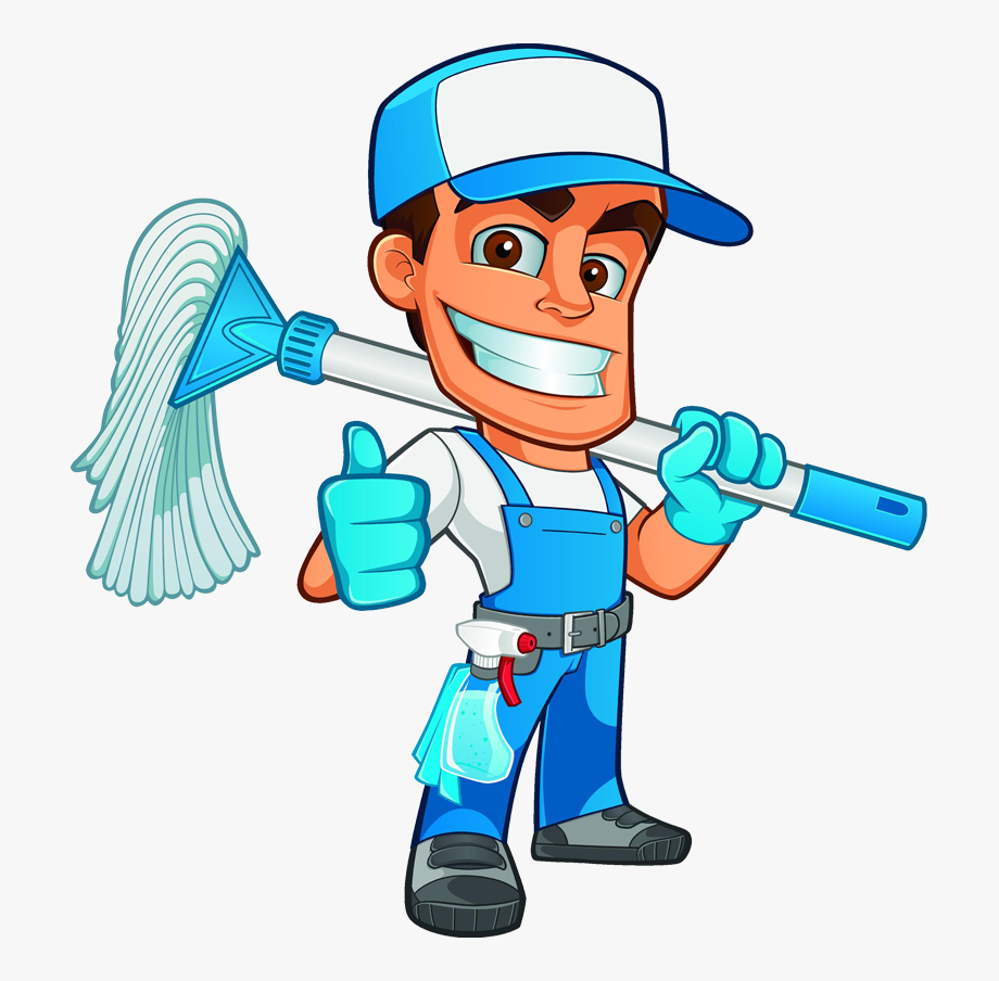 Cleaning Clipart Worker.