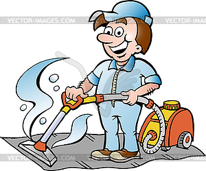 Carpet cleaner clipart.