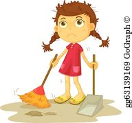 Cleaning Lady Clip Art.