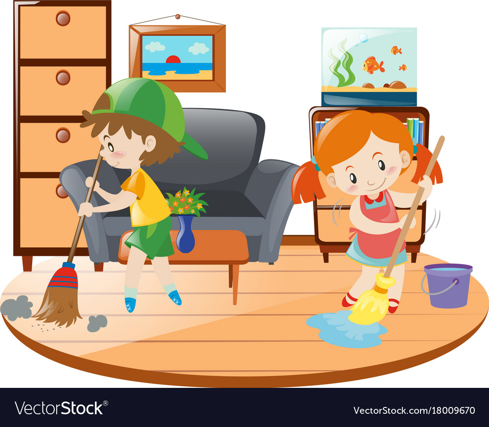 Cleaning bedroom clipart 2 » Clipart Station.