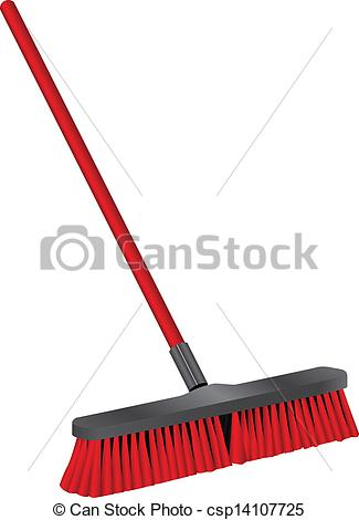 Vector Illustration of Industrial brush for cleaning.