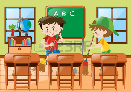 Showing post & media for School cleaning table cartoon.
