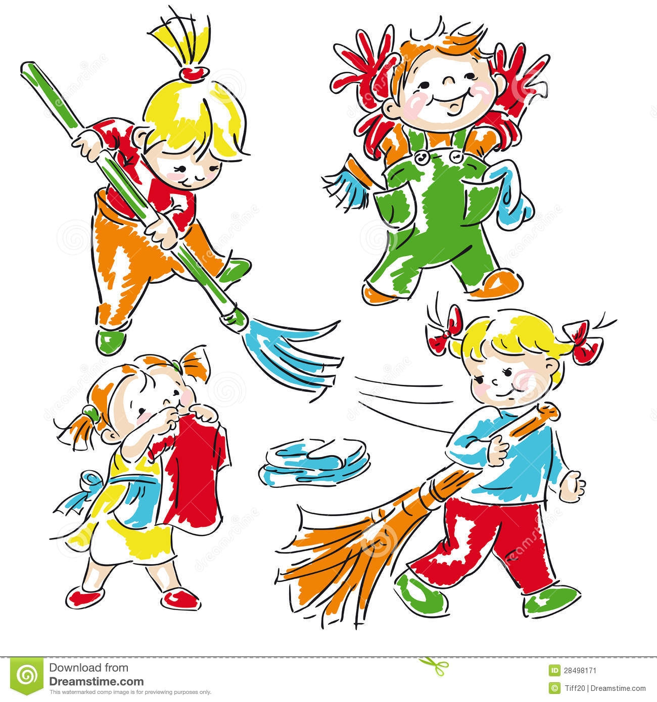 Similiar Students Cleaning Clip Art Keywords.