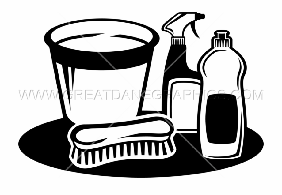Picture Free Cleaning Clipart Black And White.