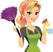 Cartoon Cleaning Lady Clipart.