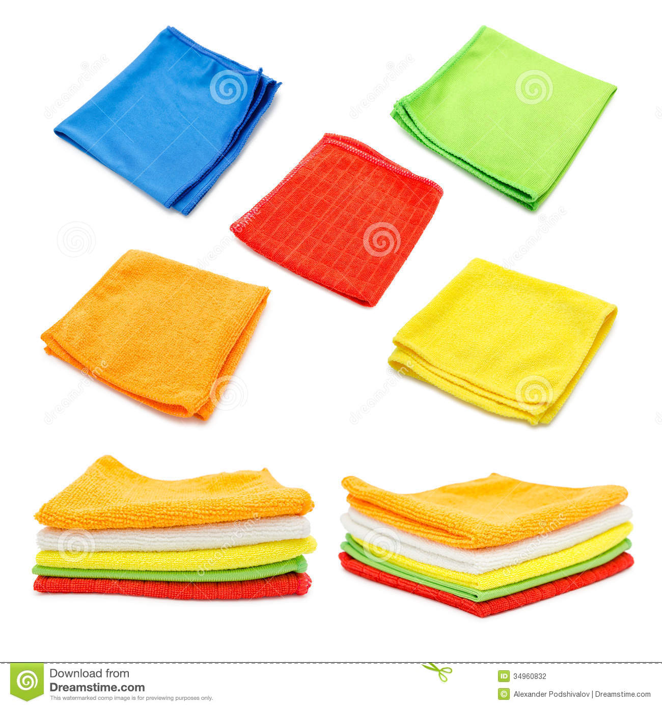 Cleaning Cloths, Towels, Tissues Stock Photography.