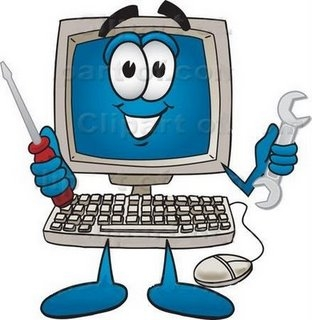 Cleaning Computer Clipart.
