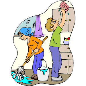 Kitchen Cleaning Crew Clipart.
