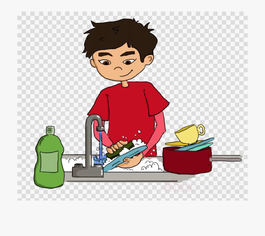 Wash The Dishes Clipart , Transparent Cartoon, Free Cliparts.