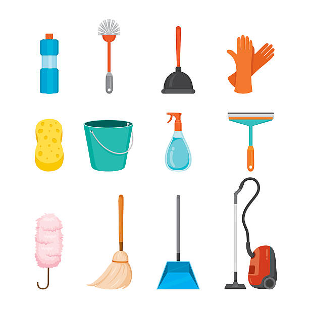 Best Cleaning Equipment Illustrations, Royalty.