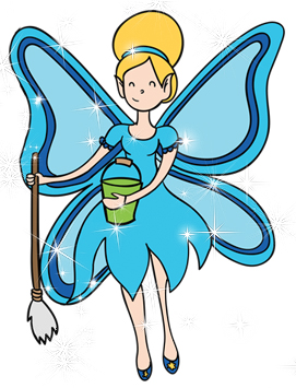 Cleaning Fairy Clipart.