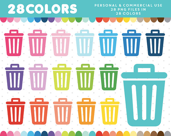 Trash Can clipart, Cleaning Clip art, Garbage clipart, Household.