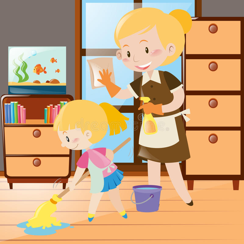 Cleaning house clipart 3 » Clipart Station.