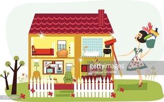 Sparkling Clean House stock vectors.