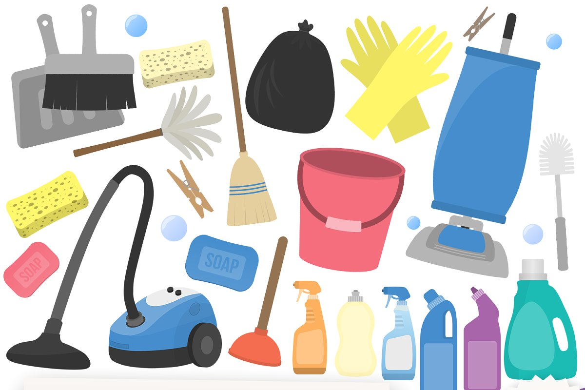 Cleaning Clipart Collection.