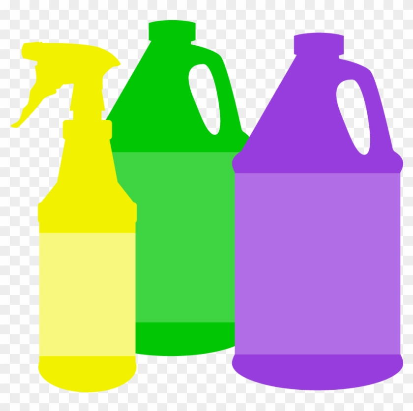 Royalty Free Cleaning Supplies Clipart.