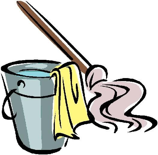 Funny Cleaning Clipart.