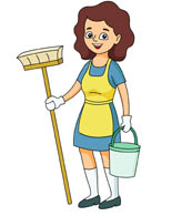 clipart of cleaning the house #11