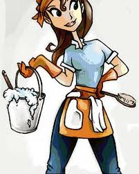 Cleaning woman clipart.