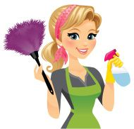 Professional Cleaning Lady Clipart.